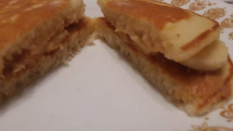 Banana Peanut Butter Pancake Sandwiches.